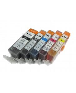 Pack 5 génériques pour CANON PGI-525BK/CLI-526BK/CLI-526C/CLI-526M/CLI526Y