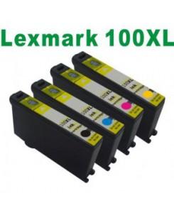 Pack de 4 cartouches Lexmark 100XL