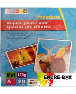 PAPIER PHOTO A3 MAT 170gr/20 pages