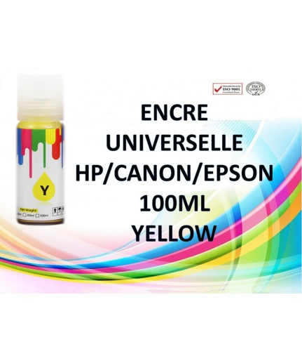 Encre universelle yellow 100ml