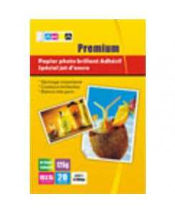 PAPIER PHOTO BRILLANT ADHESIF A4 - 125grs- 20 pages