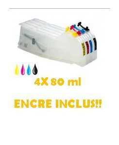 CARTOUCHES RECHARGEABLES LC980/1100 AVEC ENCRE!!