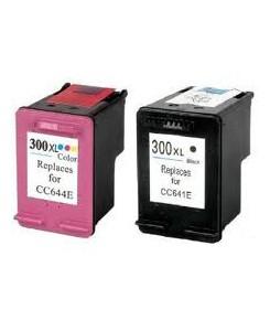 Pack de 2 cartouches HP 300XL BK/300XL color