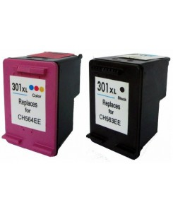 Pack de 2 cartouches HP 301XLBK/301XLcolor