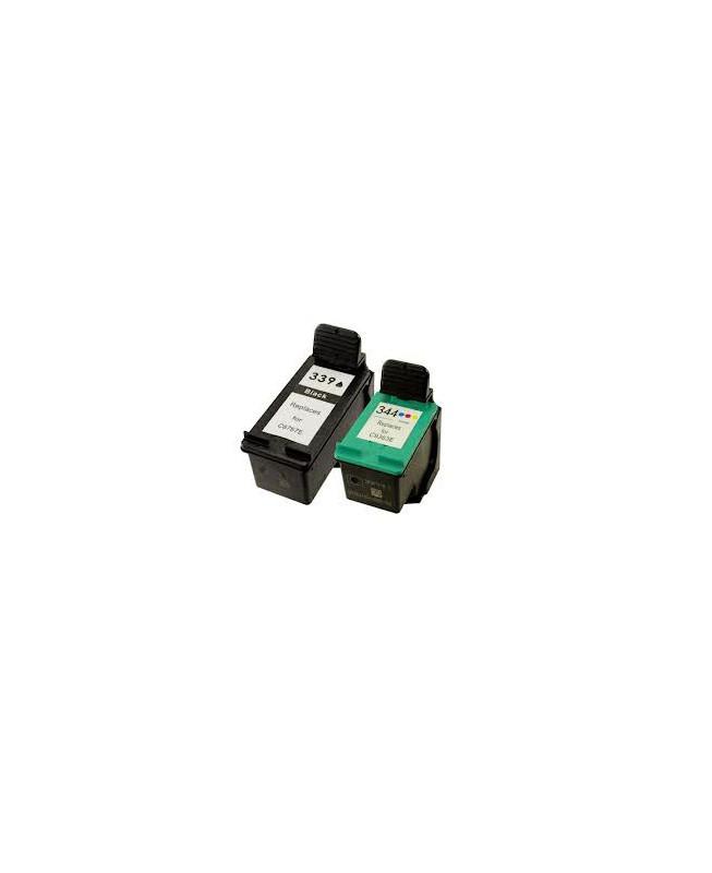 Pack de 2 cartouches HP 339XL/344XL
