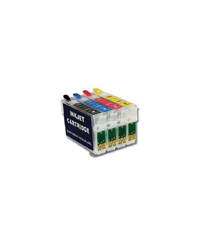 cartouches d 39 encre rechargeables epson t0715 recharge cartouche t0711. Black Bedroom Furniture Sets. Home Design Ideas