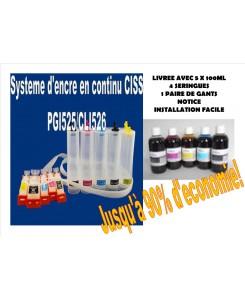 SYSTEME D'ENCRE EN CONTINU CISS+500ml d'encre