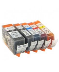 Pack 5 cartouches génériques CANON PGI-520/CLI521